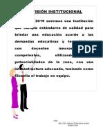 Visión Institucional 2018-Iei Uchibamba