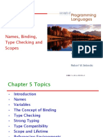 Chapter 5 - Names, Binding, Type Checking and Scopes - Student