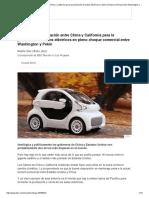La Inusual Colaboración Entre China y California Para La Producción de Autos Eléctricos en Pleno Choque Comercial Entre Washington y Pekín