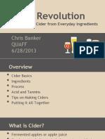 1715-18 Cider Revolution...Everyday Ingredients - Christian Baker