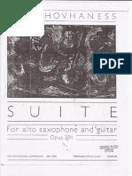 Suite Para Saxo y Guitarra