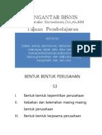 PENGANTAR BISNIS - Bentuk-bentuk Perusahaan
