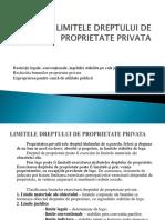 Limitele Dreptului de Proprietate Privata