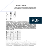 Tipos de Alfabetos