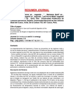 RESUMEN JOURNAl-Biogas Production in Low-cost Household Digesters at The