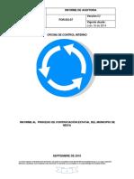 Informe de Auditoría Al Proceso de Contrtación Estatal Del Municipio de Neiva