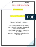 Protoloco de Asepsia Del Odontologo