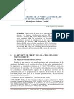 Extension y Limites de La Potestad Revisora de Los Actos Administrativos