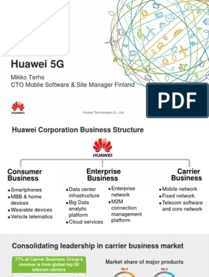 Huawei 5G: Mikko Terho CTO Moblie Software & Site Manager Finland