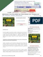 Medidas Cautelares No Processo Do Trabalho - Elcio Silva Ribeiro Filho
