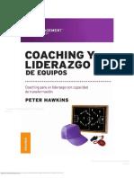 Coaching y Liderazgo de Equipos Coaching Para Un Liderazgo Con Capacidad de Transformaci n 0