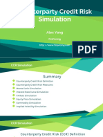 Counterparty Credit Risk Simulation