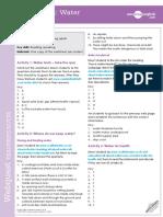 Water Webquest Teachers Notes