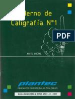 Cuaderno de Caligrafia N1 Plantec