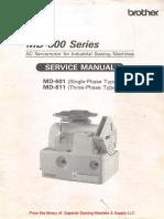 Brother MD-601, -611 AC Servomotor Service Manual