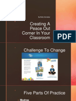 peace out corner in your classroom