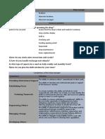 Shop Manager Interview Sheet