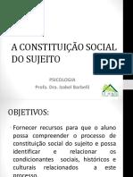 Psicologia Social e Constituição Social Do Sujeito