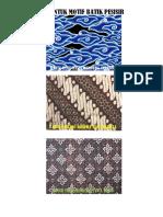 5 Bentuk Motif Batik Pesisir