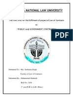 Public and Government Contracts