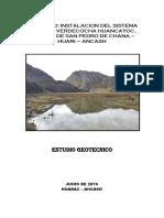 Estudio Geotécnico de La Presa Verdecocha