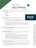 programa sociologia criminal