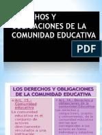 Derechos y Obligaciones de La Comunidad Educativa