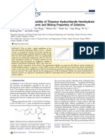 Measurement of Solubility of Thiamine Hydrochloride Hemihydrate