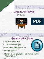 APA Style for Term Paper 6th Edition ESPAÑOL