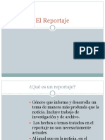El Reportaje, sus características