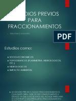 Estudios Previos Para Fraccionamientos