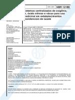 NBR 12188 Gases Medicinais