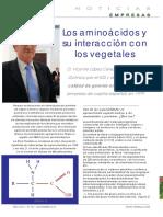 Entrevista a Vicente Lopez Sobre Aminoacidos Vegetales