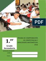 1er. Grado-evaluación de Salida-matemática