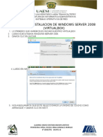Manual de Instalacion de Windows Server 2008