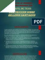 Perfil de Tesis, Cosntruccion Sobre Rellenos Sanitarios
