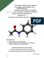 1 Informe de Química Orgánica Aii