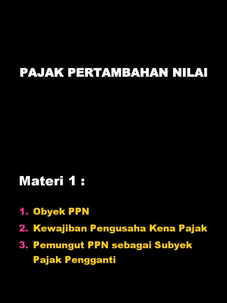 Materi Ppn 1