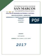 INFORME 2 - LABORATORIO DE CIRCUITOS ELÉCTRICOS I