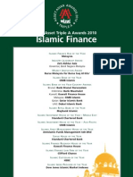 The Asset Triple A Islamic Finance Awards 2010 Winners