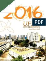 UFBA Em NUMEROS 2016 Versão Para Impressão