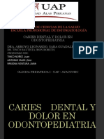Caries Dental y Dolor en Odontopediatria