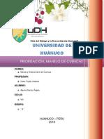 MANEJO Y ORDENAMIENTO DE CUENCAS