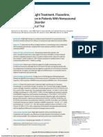 Luminoterapia y Fluoxetina
