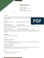 teneisha resume copy - 1 copy copy - 1 copy copy