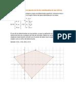 Área de un poligono en función de las coordenadas de sus vértices