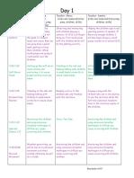 ecd 243 daily schedule plans 1-5  2