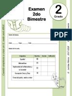 2do Grado - Examen Bloque 2 (2017-2018)