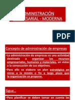 Administración Empresarial Moderna
