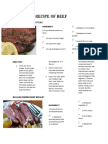 5 Recipe of Beef